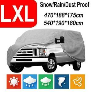 XL Waterproof Snow Wind Dust Resistant UV Outdoor Full Auto Car Cover Accessory