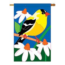 New listing Gold Finch - Applique Decorative House Flag - H105031-P2