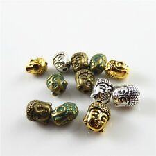MultiColors Plated Alloy Buddha Head Shaped Beads Jewelry Making Crafts 18pcs