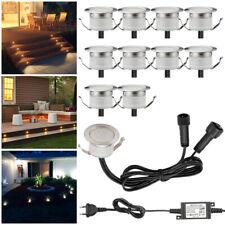 10er Set LED Bodenlampen Boden Einbaustrahler außen Terrasse Garten Beleuchtung