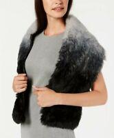 INC International Concepts Ombre Faux-Fur Stole Black/Grey 1Size Scarf  $59.50
