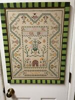 Paragon Needle Craft Finished Friendship Sampler Linen Colonial Cross Stitch