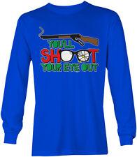 You'll Shoot Your Eye Out - Christmas Story Santa Gun Toy Rifle LS Mens T-Shirt