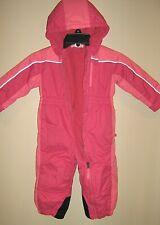 Baby Toddler Girls sz 18M REI One Piece FULL ZIP Fleece Lined Snowsuit Pink