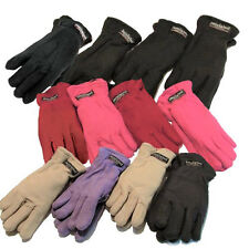 12 Pairs Polar Fleece Women's Thermal Gloves Assorted Colors WHOLESALE LOT
