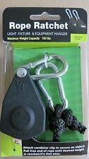 "2 x 1/4"" Rope Ratchet Grow Light Reflector Hanger HEAVY DUTY 150 lbs per piece"