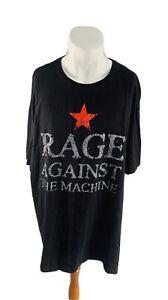 Rage Against The Machine Mens Graphic Short Sleeve T-Shirt Black 4XL Band Music