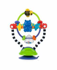 Nuby Baby Kids Infant Silly Spinwheel Suction Highchair Toy / Interactive Rattle
