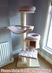 Handmade BLUSH PINK Pet Cat Bed Replacement Set for Natural Paradise Cat Tree XL