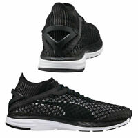 Puma Speed Ignite NetFit Lace Up Mens Trainers Black White 189937 05 M15