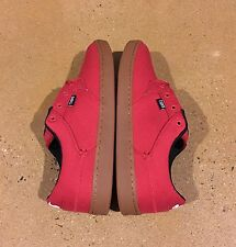 DVS Quentin Red Canvas Size 11 US Men's BMX DC Skate Shoes Sneakers