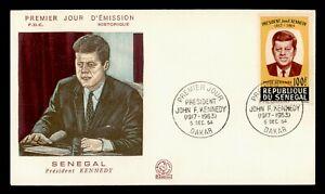 DR WHO 1964 SENEGAL FDC JFK  C244698