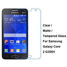 Tempered Glass/Clear/Matte Screen Protector For Samsung Galaxy Core II 2 G355H