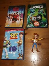 Walt Disney Toy Story Wreck it Ralph DVD G-Force y Woody Figura Paquete