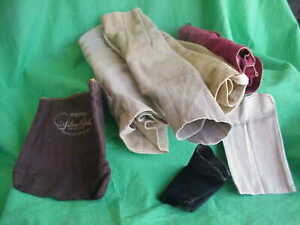 LOT OF 7 SILVER PLATE STERLING STORAGE FELTS BAGS