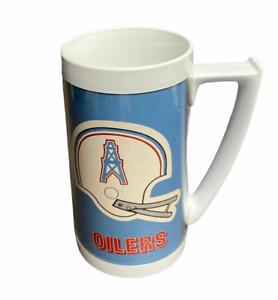 VTG HOUSTON OILERS 1976 Thermo Serv Dart NFL Beer Mug 16 oz USA Made