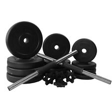New 20kg Dumbbell Set with Weight Plates and Spinlock Bars & Collars