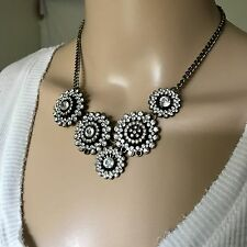 Forever 21 Women's Bronze Statement Necklace Cluster Fashion Jewelry