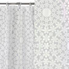 BNIP White Circle Floral Moroccan Ethnic Style Bathroom Shower Curtain NEW Retro