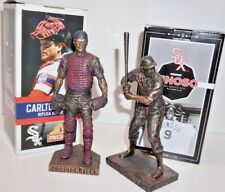 2 POLYRESIN REPLICA STATUES OF CHICAGO WHITE SOX PLAYERS - FISK & MINOSO