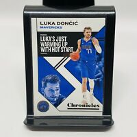 2019-20 Panini Chronicles Luka Doncic Mavericks Just Warming Up With #15