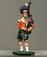 Painted Tin Toy Soldier Piper Scottish 92th Regiment 54mm 1/32