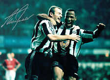 Alan SHEARER Signed Autograph 16x12 Newcastle United Action Photo AFTAL COA