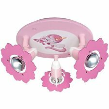 Deckenleuchte Deckenlampe Kinderzimmer Einhorn 3x E14 * ELOBRA