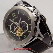 44mm Parnis sandwich black dial Sapphire glass miyota Automatic Mens Watch P919