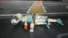 STAR WARS ACTION FLEET REBEL B-WING STARFIGHTER COMPLETE W ADMIRAL ACKBAR &PILOT