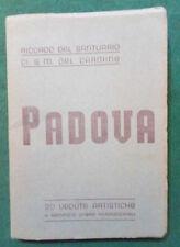 Cartoline PADOVA:RICORDO DEL SANTUARIO DI S.M.DEL CARMINE 20 vedute artistiche