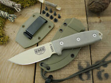 Couteau ESEE Model 3 Green Lame Carbone 1095 Manche Micarta Etui Made USA RC3PDT