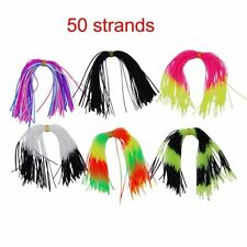 12 Bundles 50 Strands Silicone Skirts for DIY Spinnerbaits Rubber Jig Lure Mixed