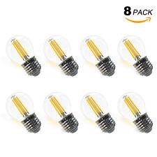 Ampoule à Filament LED G45 E27 4W 400Lm Transparent Vintage Blanc Chaud Lot de 8