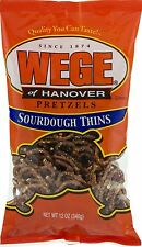 Wege of Hanover Sourdough Pretzel Thins- Four 12 oz. Bags