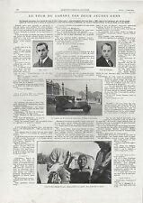 ANC PAPIER LE TOUR DU SAHARA  EN ARIES 7 CV RAID 1929