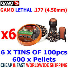 GAMO LETHAL .177 Airgun Pellets 6(tins)x100pcs NEW HUNTING PERFORMANCE