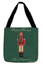 African American Nutcracker ~ Happy Holidays ~ Christmas Tapestry Tote Bag