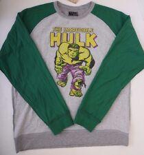 Marvel Incredible Hulk Men's Grey/Green Reversible Sweater Sweatshirt Size Large
