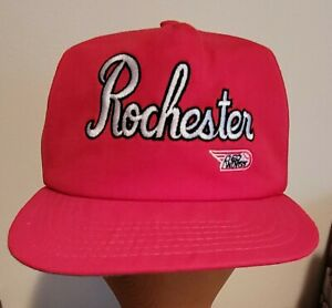 ROCHESTER RED WINGS HAT CAP SNAPBACK 1981 LOGO 80s 90s VINTAGE SILVER STADIUM !!