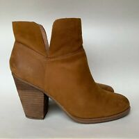 Vince Camuto Booties Brown Leather Ankle Boots Women's Size 9 M