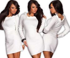 mini vestido De Punto Largo Suéter VOLANTES Jersey Top