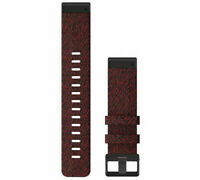 Garmin QuickFit 22 mm Replacement Watch Bands (Heathered Red Nylon) 010-12863-06