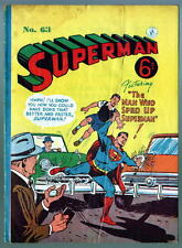Australian SUPERMAN 63 DC Comics 1950's w Action Comics 192 cover UK