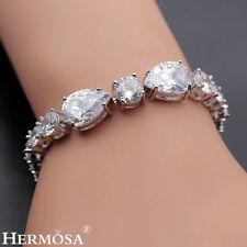 "65% Off HERMOSA SHINY WHITE TOPAZ NEW 925 Sterling Silver Bracelet 6.5"""