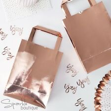 ROSE GOLD PARTY BAGS -Metallic Shiny Pink- Birthday/Hen Do - FULL RANGE IN SHOP