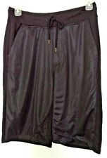 Smoke Rise cotton blend  solid black with mesh panel athletic knit shorts Medium