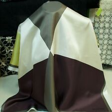 Valentino mulberry silk twill fabric 90x90cm. Geometric print. Made in Italy