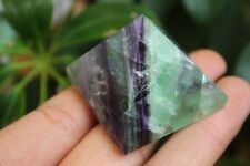 72g Super Top ! NATURAL PRETTY Bright-coloured FLUORITE CRYSTAL Pyramid HEALING