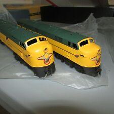 Brass Nickel Plate Chicago and Northwestern  EMD E-7 Diesel Engine Set A+A LNOB!